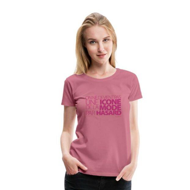 icone tshirt premium femme rose