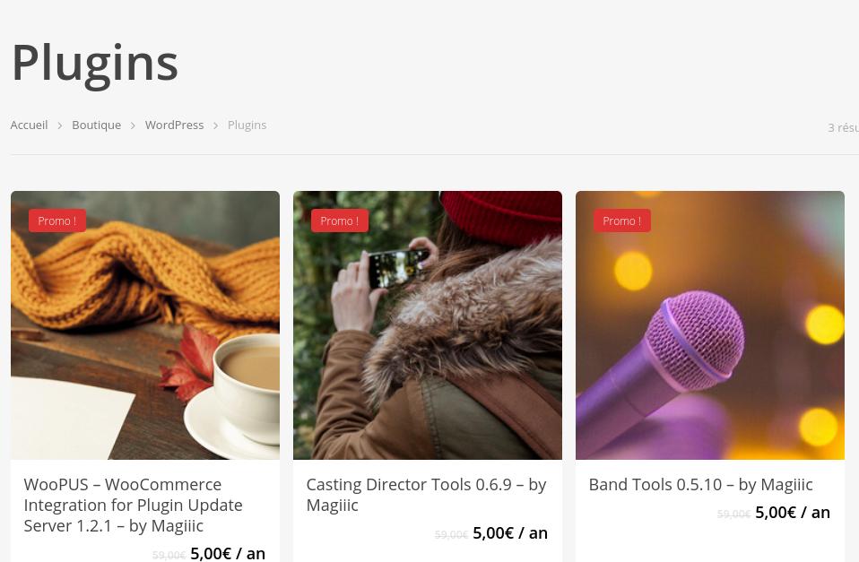 New products: WordPress plugins
